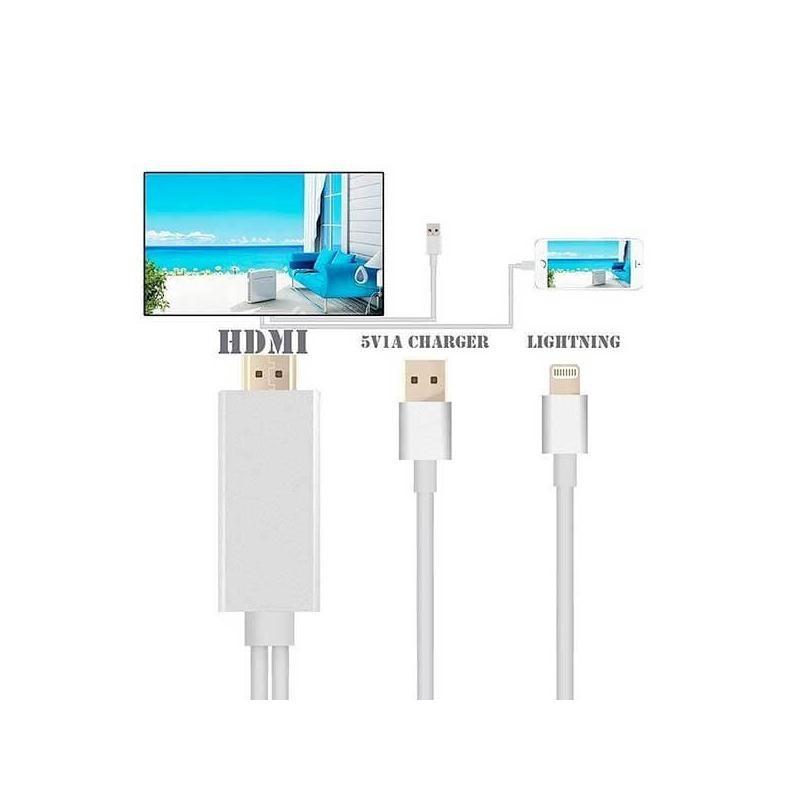 Câble adaptateur Lightning vers HDMI/HDTV iPhone et iPad