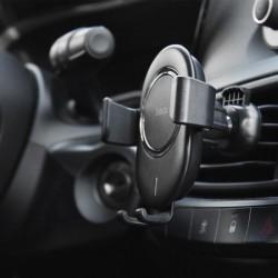 Support voiture et Chargeur sans fil QI