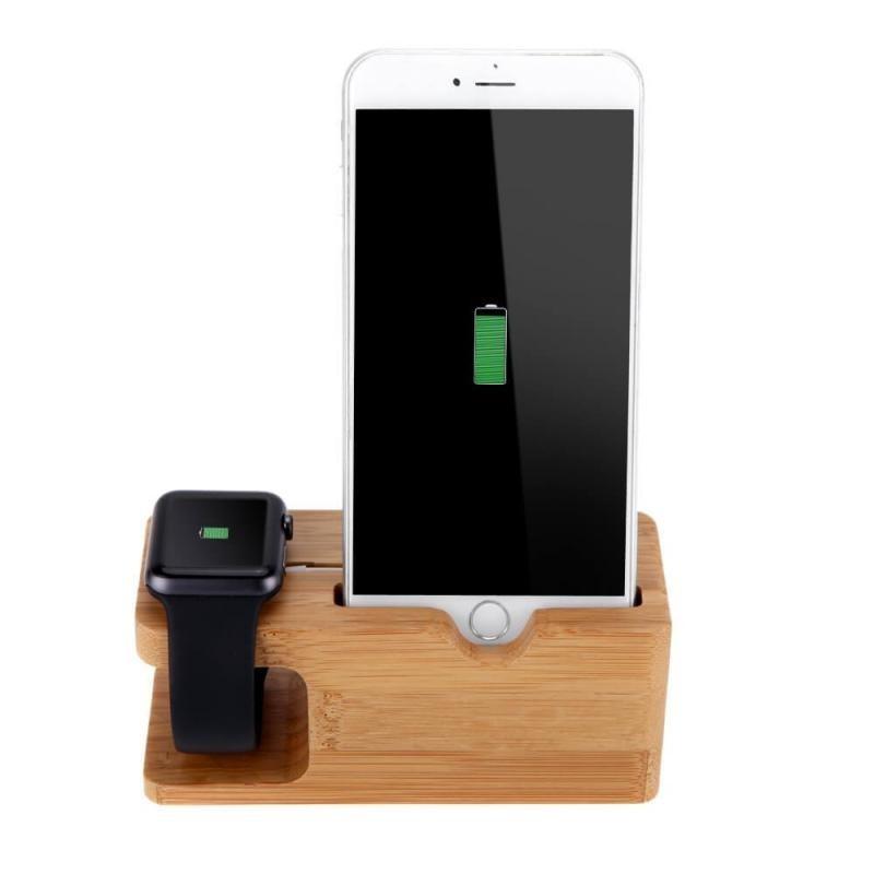 Station de charge en bois pour Apple Watch et iPhone