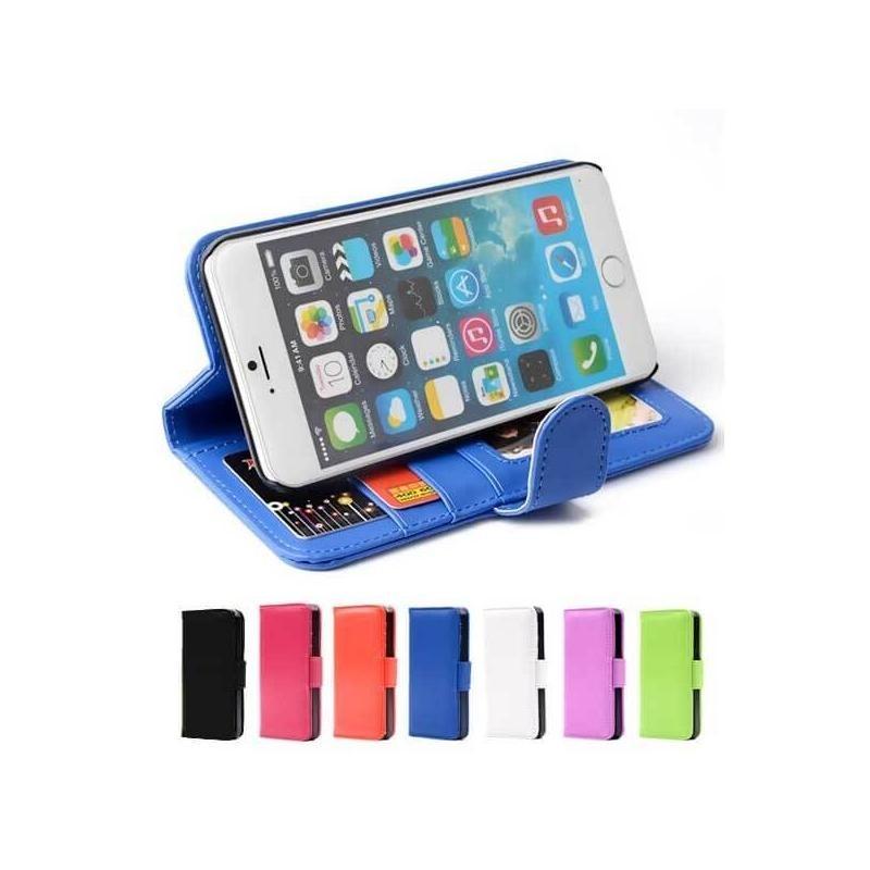 Etui portefeuille en simili cuir pour iPhone 7 ou iPhone 8