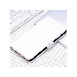Etui portefeuille en simili cuir pour iPhone 7 ou iPhone 8 Blanc