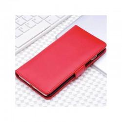 Etui portefeuille en simili cuir pour iPhone 7 ou iPhone 8 Rouge
