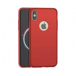 Coque de protection 360° Rouge pour iPhone X et iPhone XS